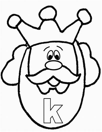 King Coloring Alphabet Alfabeto Colorare Inglese Buchstaben