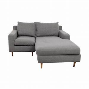 80 off interior define interior define custom grey for Sectional sofa bed loveseat with chaise