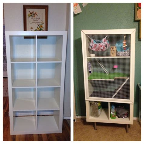diy ikea hack bookshelf turned  small pet mansion