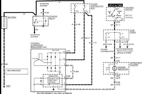 Wiring Diagram On 91 Ranger by 91 Ford Ranger Alternator Possibel That The Battery