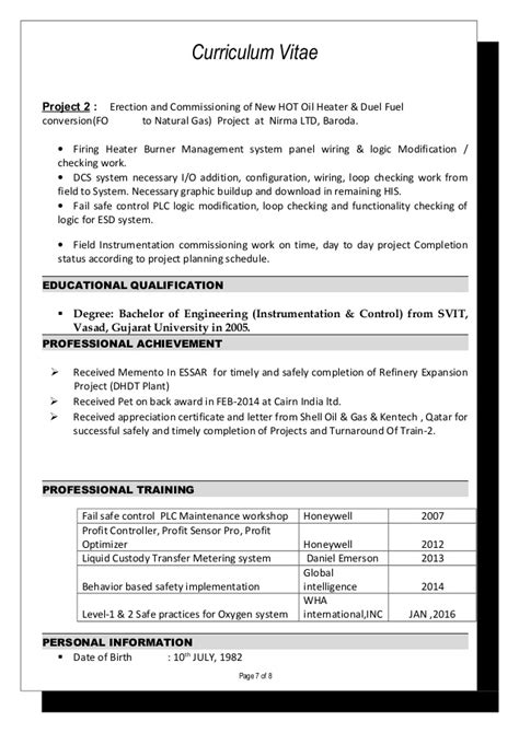 plc commissioning engineer resume instrument engineer cv