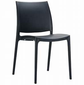 Chaise Noire Design : chaise design enzo noire chaise moderne ~ Teatrodelosmanantiales.com Idées de Décoration