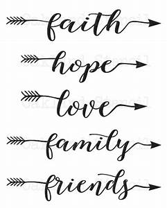 inspirational stencil set of 5faith hope love family With what kind of paint to use on kitchen cabinets for faith hope love wall art