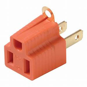 Eagle Grounding Adapter 2 Wire To 3 Wire Prong Polarized Ac Wall Outlet 15a 120v