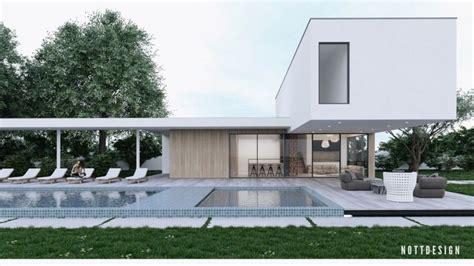 maison toit plat moderne qui d 233 fie la gravit 233 par nott