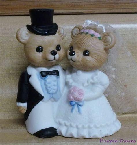 homco bride groom bear couple figurine  wedding