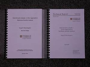 Phd thesis report