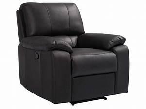 Fauteuil Electrique Conforama : fauteuil relaxation manuel en cuir vicky coloris chocolat vente de tous les fauteuils conforama ~ Teatrodelosmanantiales.com Idées de Décoration