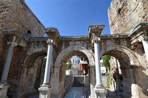 hadrians gate  antalya turkish archaeological news