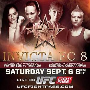 Invicta FC 8 on ufc fight pass event poster pic | MMA Fury