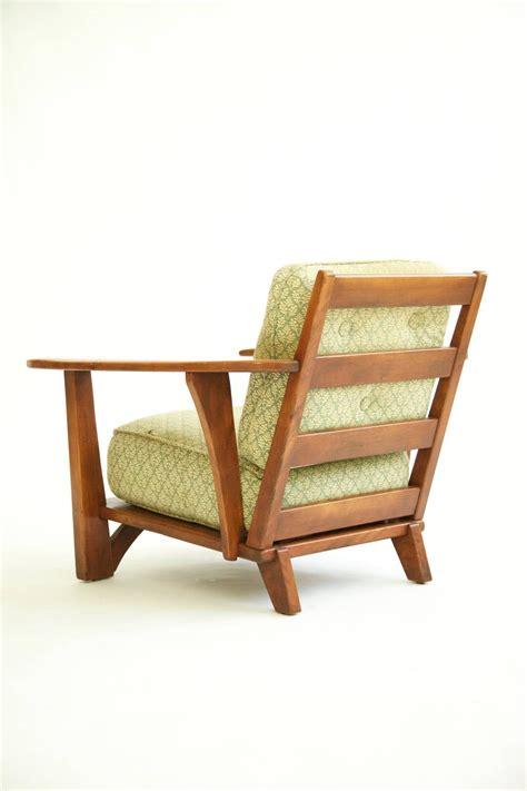 cushman paddle arm lounge chair   chair wood arm