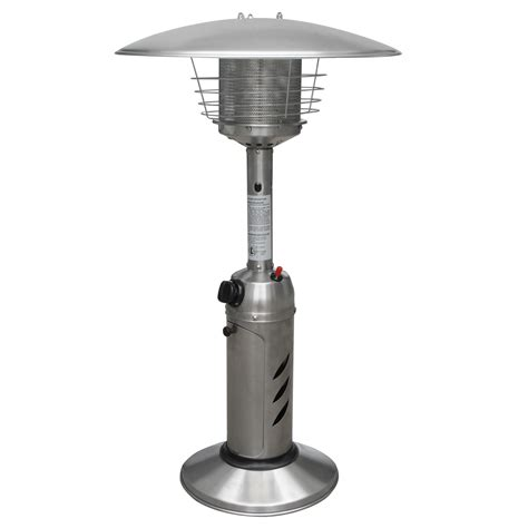 stainless steel tabletop outdoor patio heater restaurant