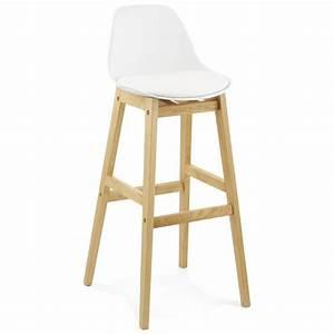 Chaises De Bar Scandinaves : tabouret chaise de bar design scandinave florence en simili cuir blanc ~ Teatrodelosmanantiales.com Idées de Décoration