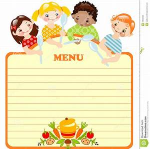 Blank Kids Menu Template - Invitation Templates ...