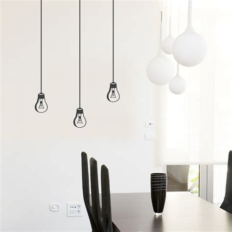 hanging light bulb wall decal light bulb decal l decal