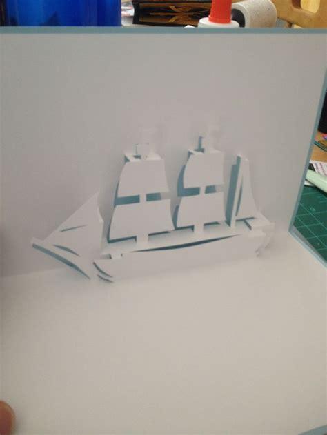 sailing ship  pop  template  cartes pop  en