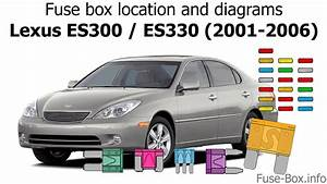 Fuse Box Location And Diagrams  Lexus Es300    Es330  2001