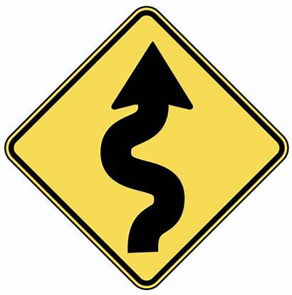 Road Sign Signs Clip Clipart Winding Warning