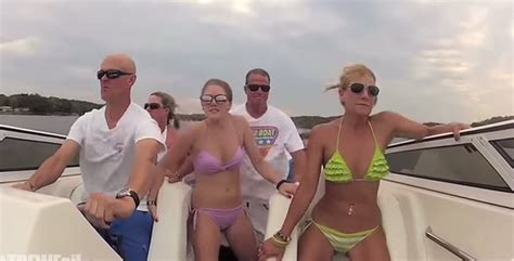 Boat Crash Video Turn Down For What by Turn Down For What Bikini Boat Crash Remix Edition Video