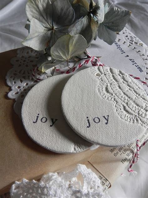 love  clay ornaments cute  gift tags