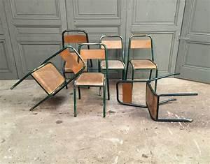 Chaise D école : rares 6 chaises d 39 cole tolix mod le ud ~ Teatrodelosmanantiales.com Idées de Décoration