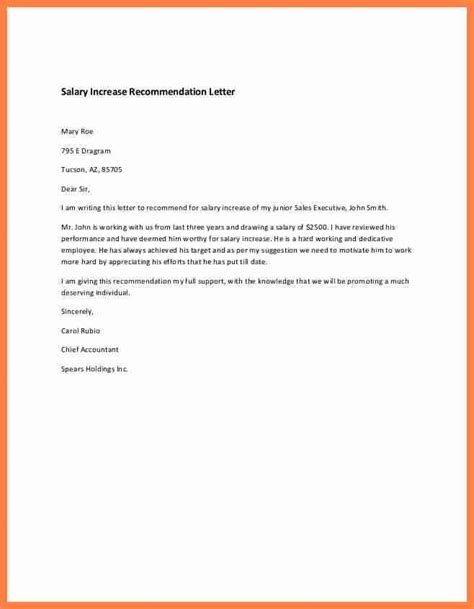 salary increase letter  employer proposal