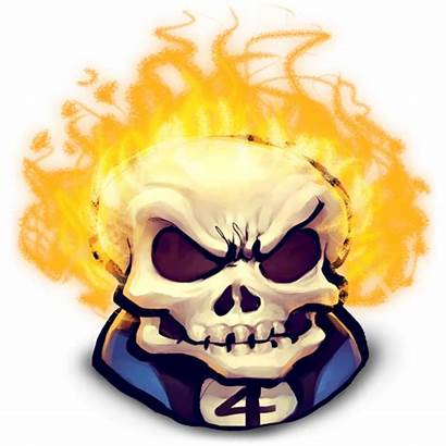 Rider Ghost Icon Face Clipart Blaze Johnny