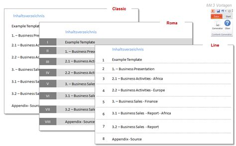 create  powerpoint table  contents automatically