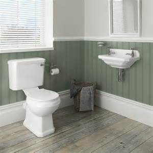 downstairs bathroom decorating ideas carlton traditional cloakroom suite toilet wall hung basin at plumbing uk