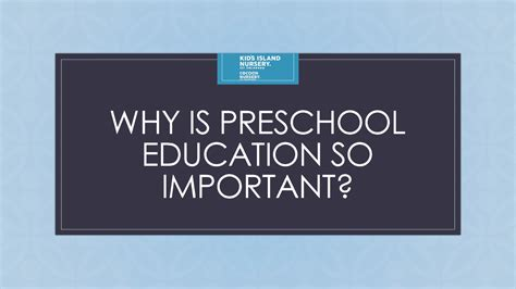 why is preschool education so important authorstream 852   2859541 636034491588680000 slide1 fs