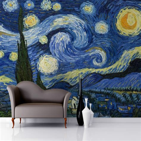 buy  wallpaper  wall  starry night