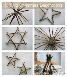 make your own twig christmas decorations