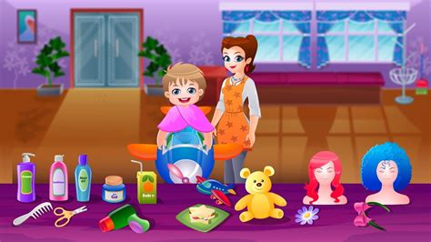Kids Hair Salon Game Movie By Top Baby Games