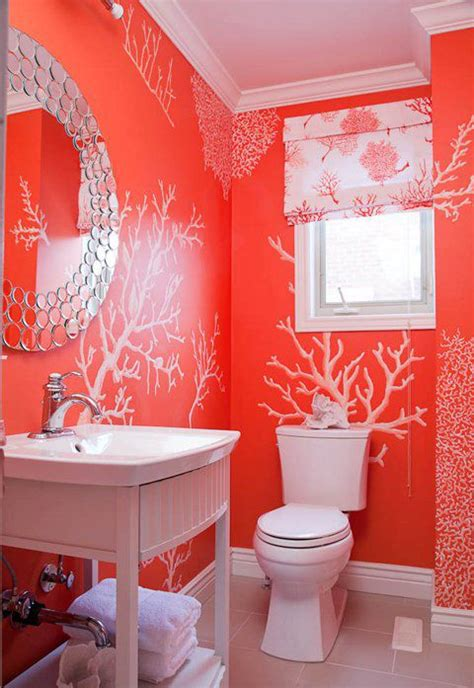Coral Color Bathroom Decor by 63 Best Images About Coral Walls On Paint