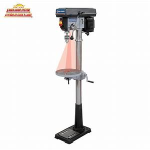 13 U0026quot  Floor Model Drill Press With Dual Laser Guide System