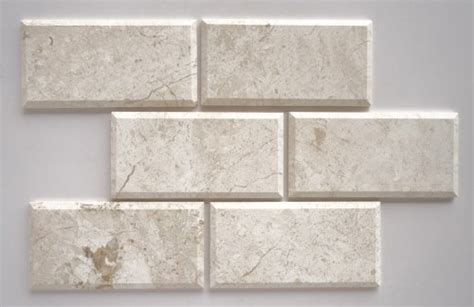 4x8 White Beveled Subway Tile by Affordable Diana Royal Marble 4x8 Beveled Honed