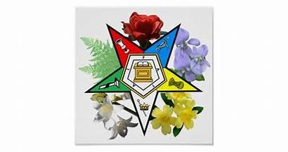 Oes Emblem Floral Poster Zazzle