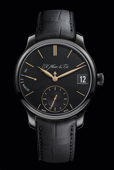 H. Moser & Cie Perpetual Calendar Black Edition Watch ...