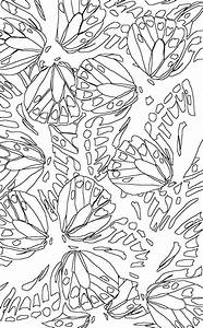 Coloring Page World  Butterfly Print  Portrait