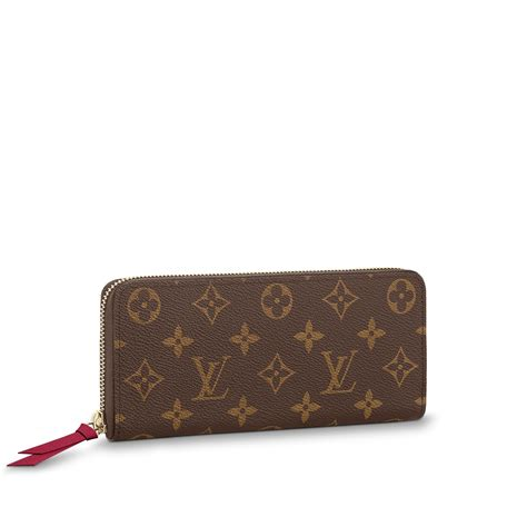 clemence wallet monogram canvas small leather goods louis vuitton
