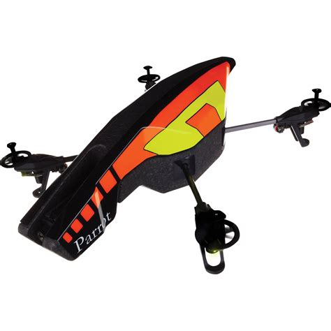 parrot ar drone 2 0 quadcopter yellow orange pf721001 b h