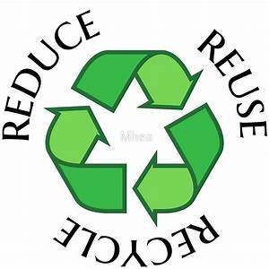 """""""Reduce reuse recycle green recycling symbol sticker and"""