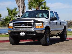 1999 Ford F250 V10 6 8l Gas Crew Cab 4x4 Xlt California Truck 35 U0026quot  Tires For Sale