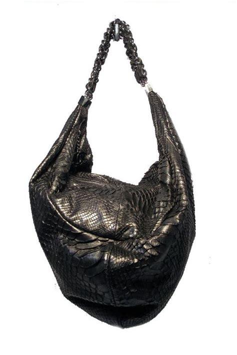 chanel black python hobo shoulder satchel bag  sale  stdibs