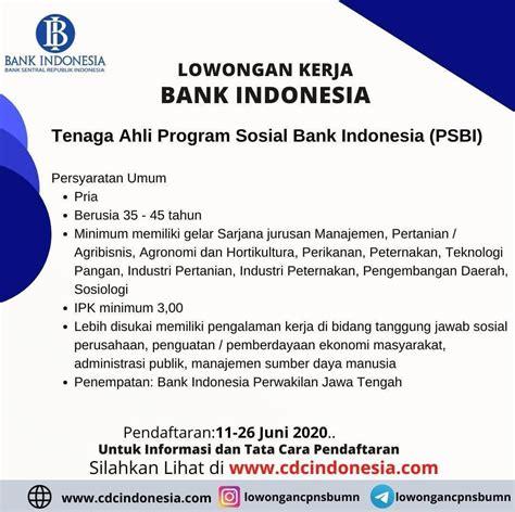 Proses di jakarta, jawa tengah dan jawa timur informasi lebih lanjut silahkan telpon / sms ke : INFOMINA Lowongan Kerja Perikanan di Bank Indonesia