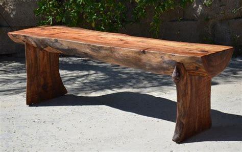 wood log bench reclaimed log bench woodwaves
