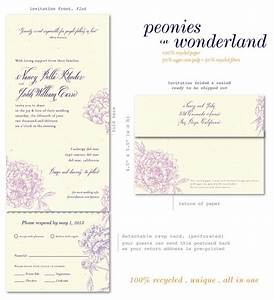 send n sealed invitations on 100 recycled paper peonies With all in one wedding invitations recycled