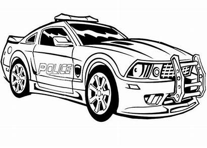 Coloring Police Pages Transformers Cars Printable Sheets