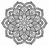 Mandala Flower Coloring Mandalas Forming Pages Adult sketch template