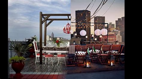 rooftop party decoration ideas easy decorating  rooftop space youtube